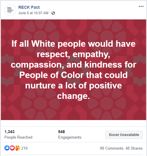White People RECK Positive Change
